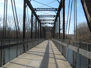 Biking across the bridge on Thanksgiving.