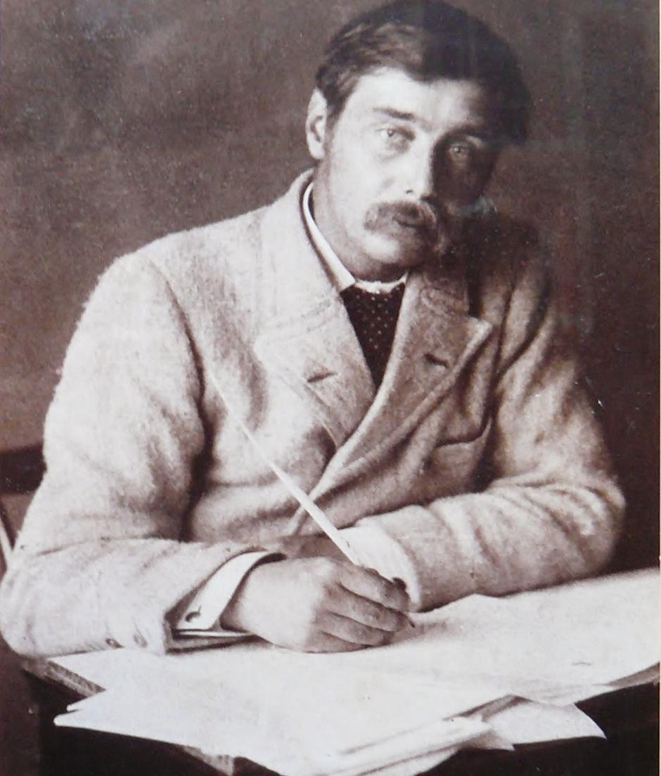 H.G. Wells writing